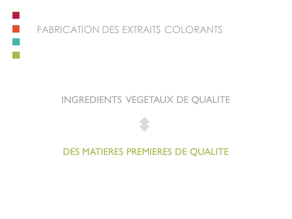 Une fabrication avec des ingrédients végétaux de qualité pour assurer des matières premières de qualité..